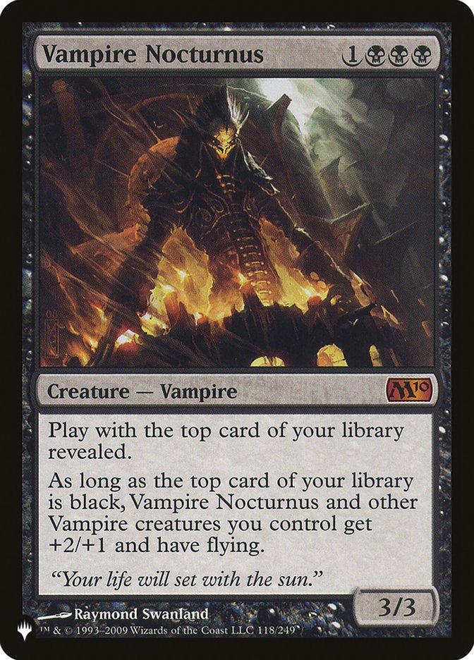 Vampire Nocturnus - The List