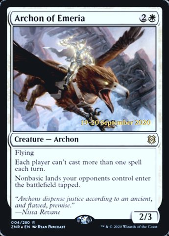 Archon of Emeria - Foil - Prerelease Promo