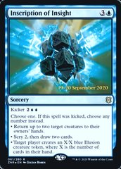 Inscription of Insight - Foil - Prerelease Promo