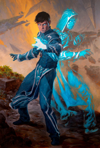 Jace, Mirror Mage 1 Art Card