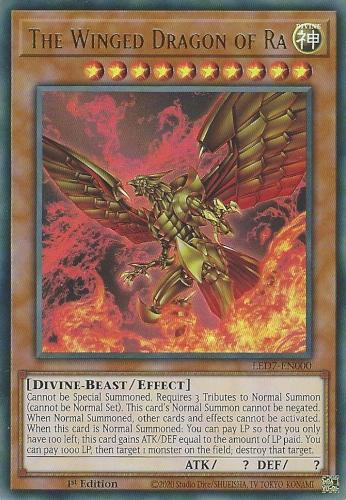 The Winged Dragon of Ra - LED7-EN000 - Ultra Rare - 1st Edition (Altenate Artwork)