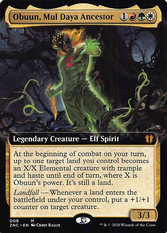 Obuun, Mul Daya Ancestor - Foil - Extended Art