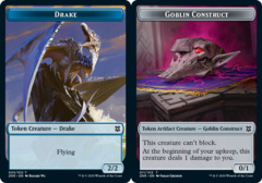 Drake Token // Goblin Construct Token - Foil