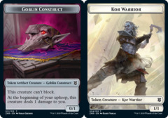 Goblin Construct // Kor Warrior Double-sided Token - Foil