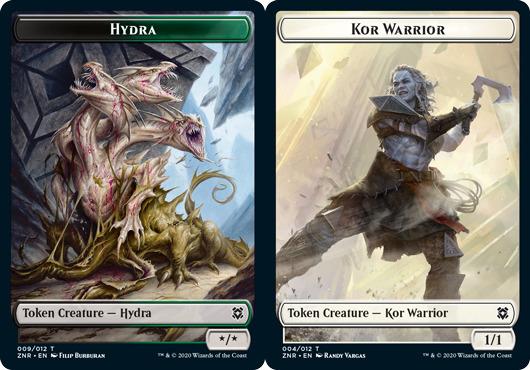 Hydra Token // Kor Warrior Token - Foil