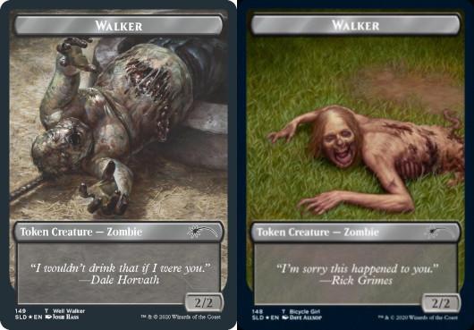 Walker (Well Walker) Token // Walker (Bicycle Girl) Token - Foil
