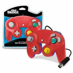 Old Skool GameCube / Wii Compatible Controller - RED/BLUE