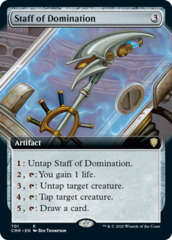 Staff of Domination - Foil - Extended Art