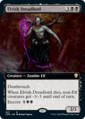 Elvish Dreadlord - Foil - Extended Art