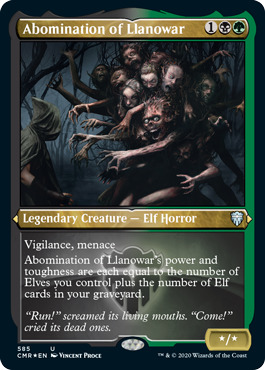 Abomination of Llanowar - Foil Etched