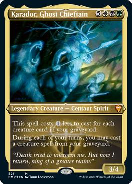Karador, Ghost Chieftain - Foil Etched