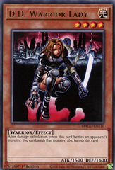 D.D. Warrior Lady - MAGO-EN110 - Gold Rare - 1st Edition on Channel Fireball