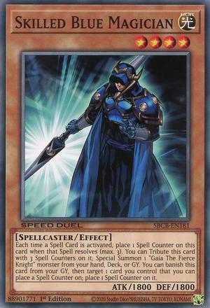 Skilled Blue Magician - SBCB-EN181 - Common - 1st Edition