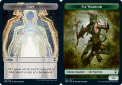 Copy Token // Elf Warrior Token - Foil
