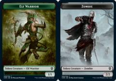 Elf Warrior Token // Zombie Token - Foil