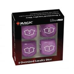 Ultra Pro - Deluxe 22MM Swamp Loyalty Dice Set with 7-12 for Magic: The Gathering