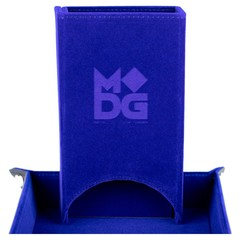 Metallic Dice Games Blue Fold Up Dice Tower