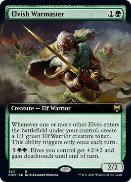 Elvish Warmaster - Extended Art