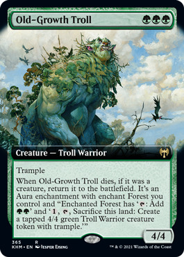 Old-Growth Troll - Extended Art