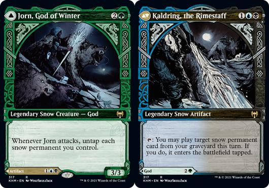 Jorn, God of Winter // Kaldring, the Rimestaff - Showcase