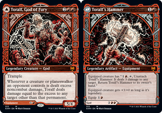 Toralf, God of Fury // Toralfs Hammer - Foil - Showcase