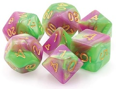 TMG Dice: HarlequinS Vow (Green/Rose) (20)