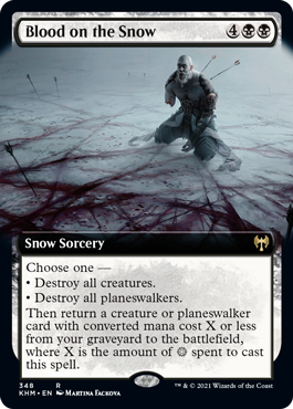 Blood on the Snow - Foil - Extended Art