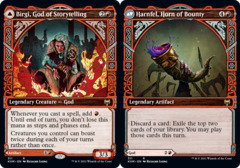 Birgi, God of Storytelling // Harnfel, Horn of Bounty - Foil - Showcase