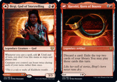 Birgi, God of Storytelling // Harnfel, Horn of Bounty - Foil