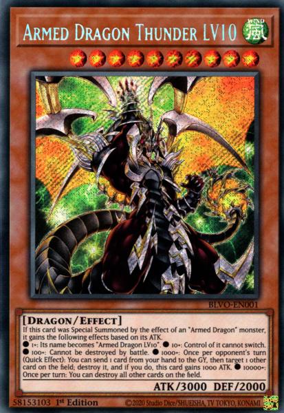 Armed Dragon Thunder LV10 - BLVO-EN001 - Secret Rare - 1st Edition