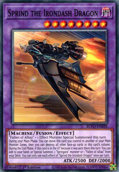 Sprind the Irondash Dragon - BLVO-EN038 - Common - 1st Edition