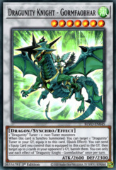 Dragunity Knight - Gormfaobhar - BLVO-EN045 - Super Rare - 1st Edition