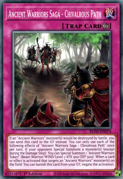Ancient Warriors Saga - Chivalrous Path - BLVO-EN074 - Common - 1st Edition