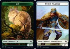 Cat Token // Human Warrior Token - Foil