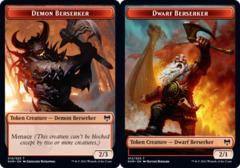 Demon Berserker Token // Dwarf Berserker Token - Foil