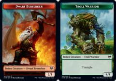 Dwarf Berserker Token // Troll Warrior Token - Foil