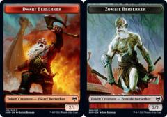 Dwarf Berserker Token // Zombie Berserker Token - Foil