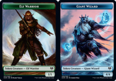 Elf Warrior Token // Giant Wizard Token - Foil