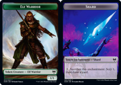 Elf Warrior Token // Shard Token - Foil