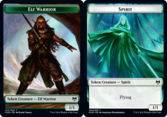 Elf Warrior Token // Spirit Token - Foil