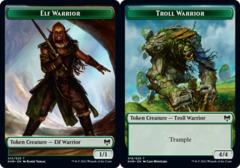 Elf Warrior Token // Troll Warrior Token - Foil