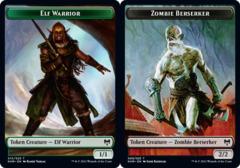 Elf Warrior Token // Zombie Berserker Token - Foil