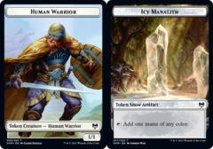 Human Warrior Token // Icy Manalith Token - Foil