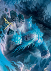Icehide Troll Art Card - Gold-Stamped Signature