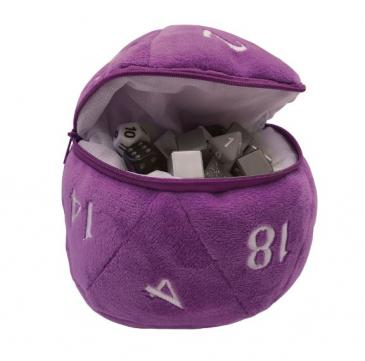 Ultra Pro - D20 Plush Dice Bag - Purple