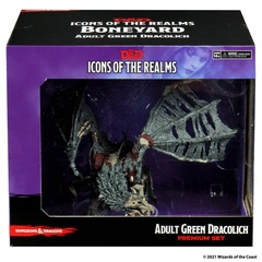 D&D Icons of the Realms: Boneyard Premium Set - Green Dracolich