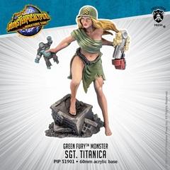 Green Fury - Sgt. Titanica - PIP51901 - 60mm Acrylic Base