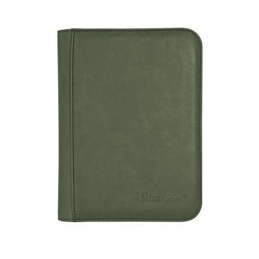 Ultra Pro - Zippered 4-Pocket Premium PRO-Binder - Suede Collection: Emerald