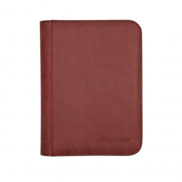Ultra Pro - Zippered 4-Pocket Premium PRO-Binder - Suede Collection: Ruby