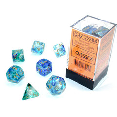 Chessex 27556 - Nebula - Polyhedral 7 Die Set - Oceanic/gold